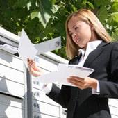 Unterlagen per Post erhalten - Bestellformulare und Flyer von Tele2